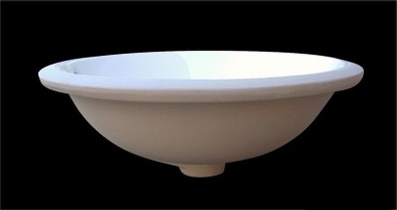 unterbauwaschtisch unterbaubecken waschbecken rund keramik 39 5 x 39 5 cm ebay. Black Bedroom Furniture Sets. Home Design Ideas