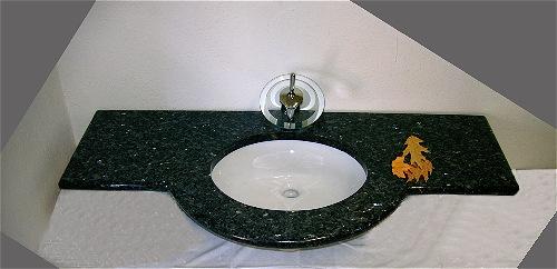granitwaschtisch blue pearl mit unterbaubecken aus naturstein ebay. Black Bedroom Furniture Sets. Home Design Ideas