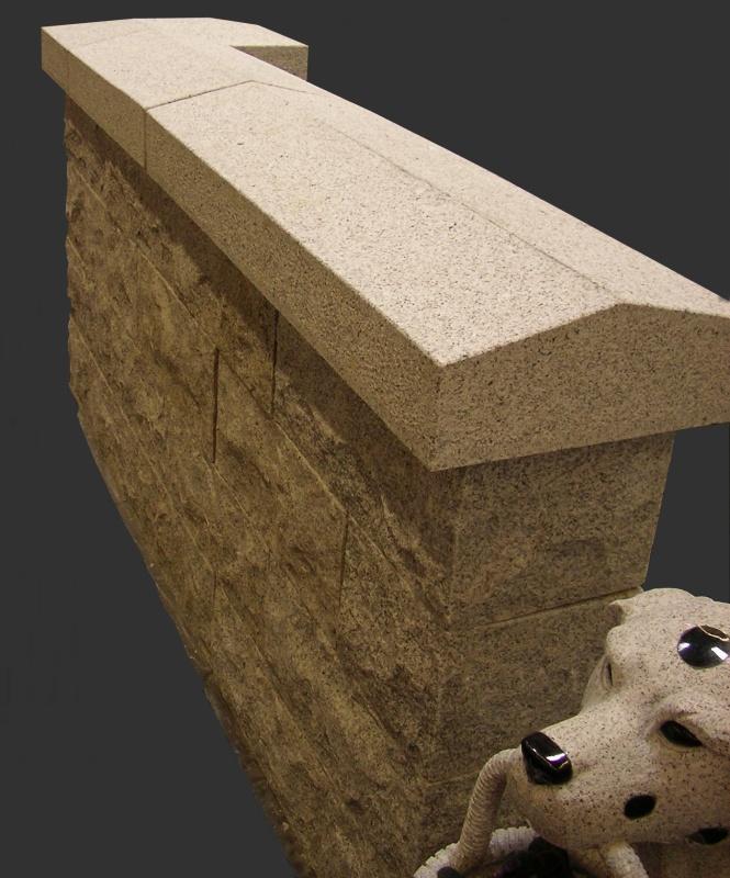 abdeckplatten aus naturstein granit f r mauern und s ulen. Black Bedroom Furniture Sets. Home Design Ideas
